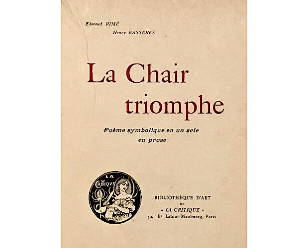 title-page of La Chair Triomphe by Rimé and Bassères