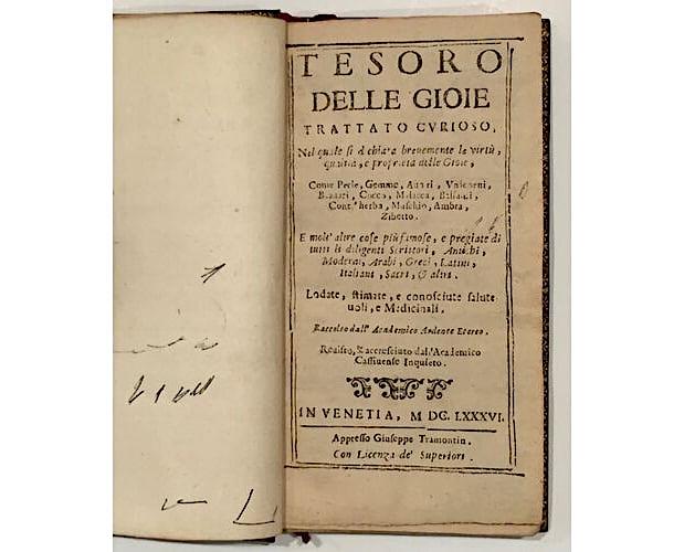 title-page of Tesoro delle Gioie