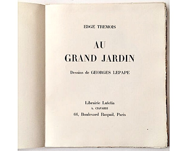 title-page of Tremois Au grand jardin