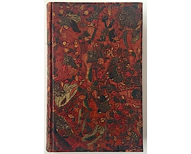 Japanese-inspired embossed and painted binding on Jean d'Ardenne Notes d'un vagabond