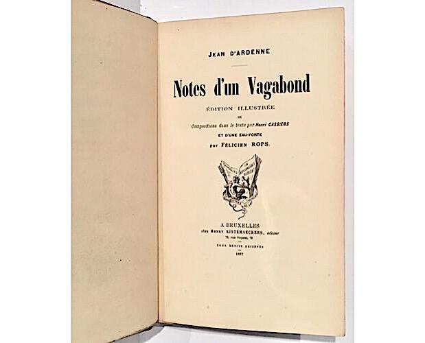 title-page of Jean d'Ardenne Notes d'un vagabond