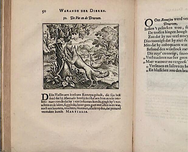 illustration from Vondel Warande der dieren