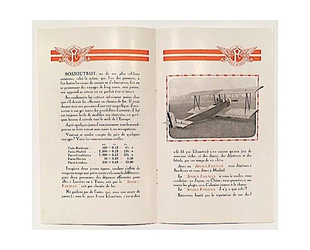 double-page of Farman trade catalogue