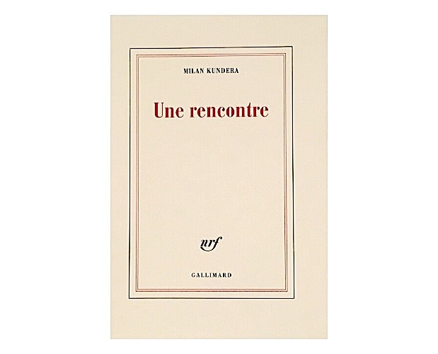 cover of Kundera Une rencontre