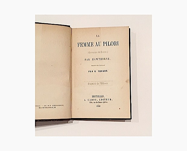 title-page of Nathaniel Hawthorne La Femme au pilori