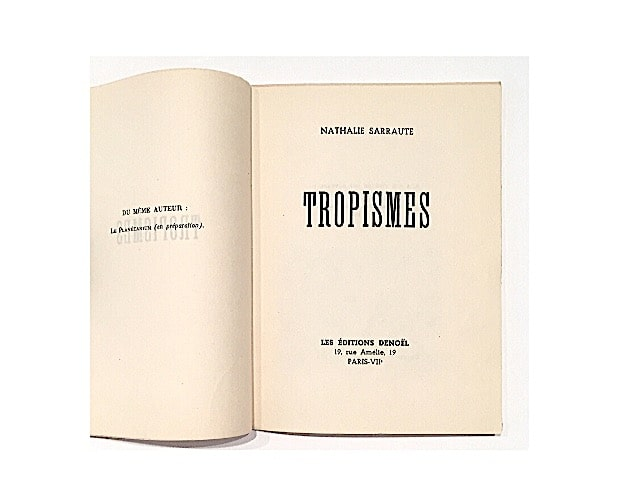 title-page of Tropismes by Nathalie Sarraute