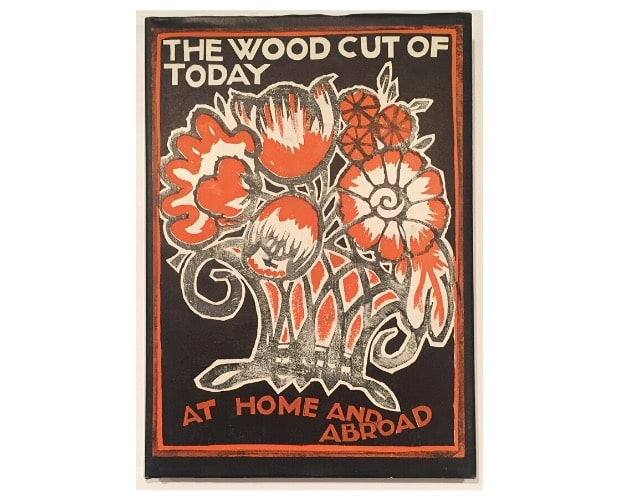 dust jacket of The Woodcut of Today at Home and Abroad