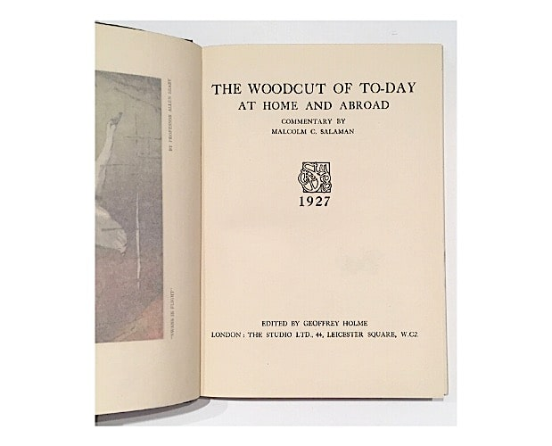 page de titre de The Woodcut of Today at Home and Abroad