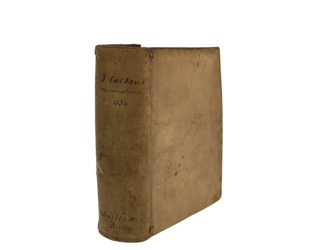 vellum binding of Caesar Commentariorum