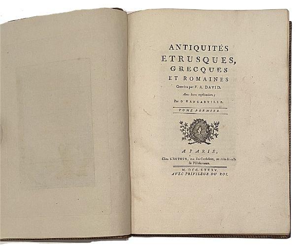 Title-page of Hancarville Antiquités