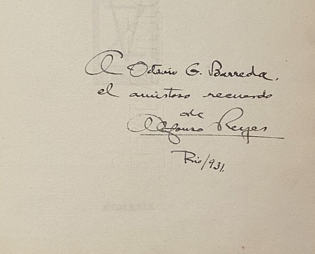 inscription in Norah Borges Fuga de Navidad