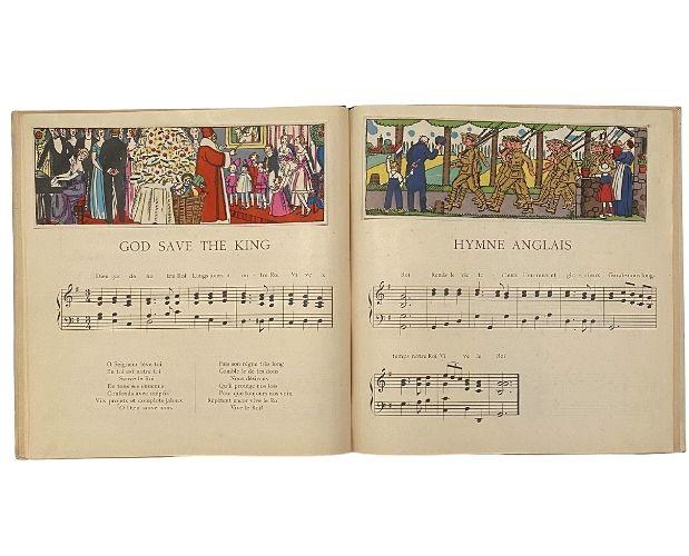 pochoir illustration of Tolmer Thevenaz Musique de la guerre