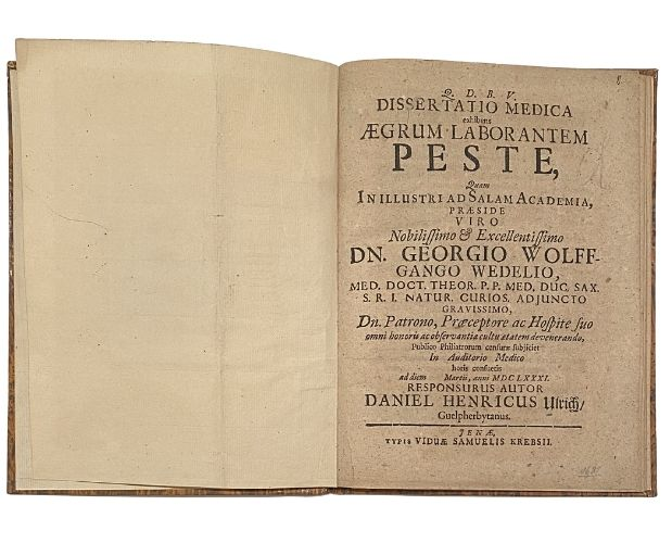 Title-page of Wedel Peste