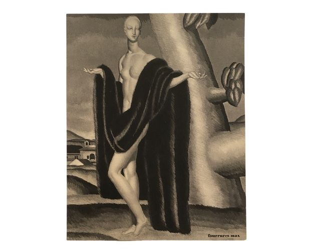 Plate by Jean Dupas for trade catalogue Toi