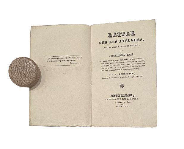 Title-page of Lettre sur les aveugles