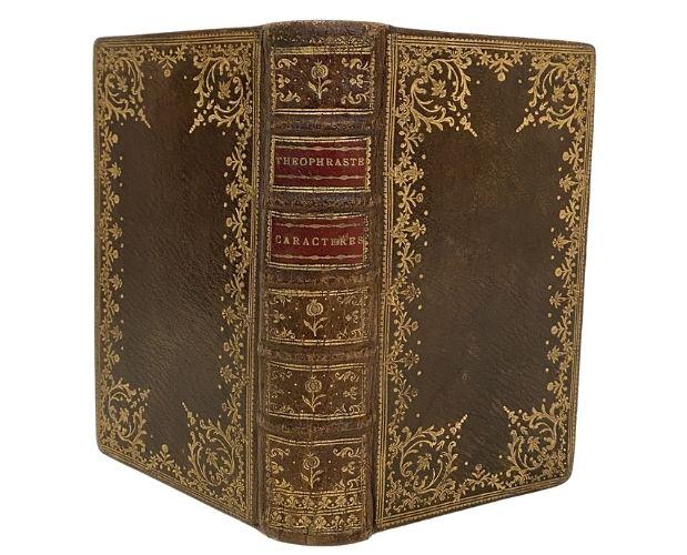 Gilt morocco binding of La Bruyère Caractères