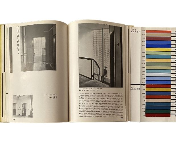 double page with colour chart taut wohnhaus
