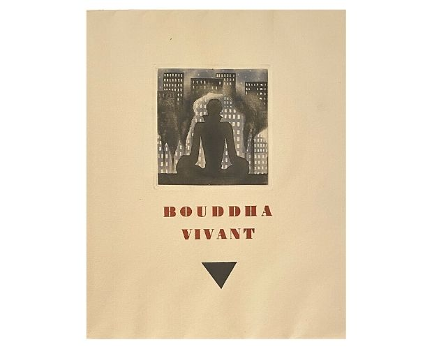 cover of Bouddha vivant by Paul Morand illustrated by Alexeieff