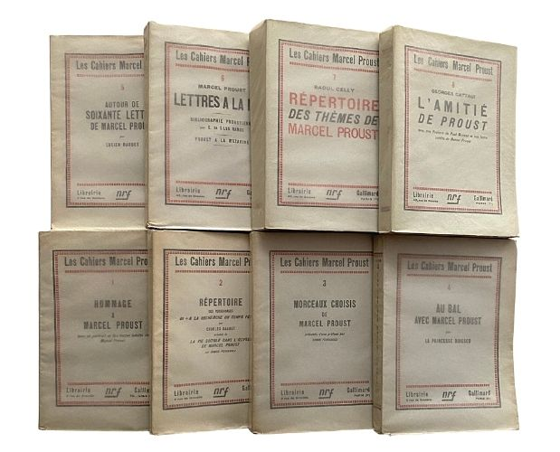 covers of cahiers marcel proust