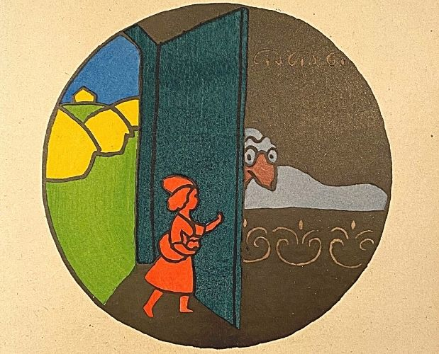 pochoir illustration by Lucien Laforge for Les Contes de fées